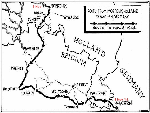 map holland to germany motor convoy